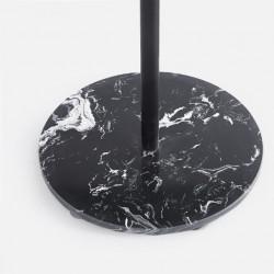 Čiviluk Elegant - metalni sa mermernom bazom 170x32 - Crni