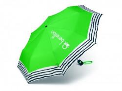 Cortina, kišobran, mali, zelena, pruge ( 504309 )