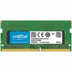 Crucial DRAM 4GB DDR4 2666 MTs (PC4-21300) CL19 SR x8 SODIMM 260pin , EAN: 649528787286 ( CT4G4SFS8266 )