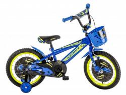 "Dečija bicikla 16"" AZIMUT plavo-žuti ( 16012 )"