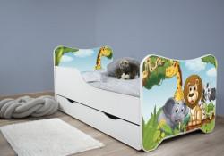 Dečiji krevet 160x80 cm happy kitty+fioka AFRICA ( 7459 )