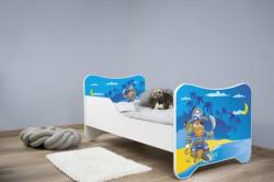 Dečiji krevet 160x80 HAPPY KITTY - OLD PIRATE ( 7517 )