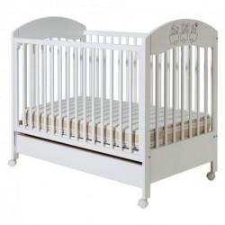 Dečiji krevetac - Gloria bela sa fiokom ( 094 )