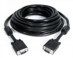 E-Green Kabl VGA D-sub MM 20m HQ feritno jezgro crni