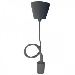 Elit+ silikonska luster visilica sa grlom e27 siva ( EL9729 )
