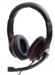 Gembird slušalica sa mikrofonom, 1x3.5mm black/red ( MHS-03-BKRD )