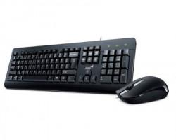 GENIUS KM-160 USB US crna tastatura+ USB crni miš