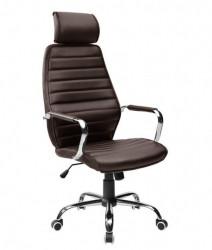 Kancelarijska fotelja 9341H od eko kože - Braon