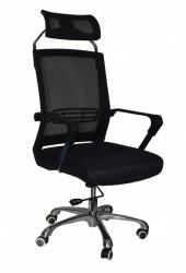 Kancelarijska stolica FA-6047 od mesh platna - Crna