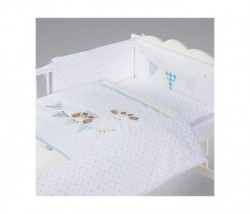 Klups Posteljina za bebe set 5 delova night birds blue ( C-5/H238 )