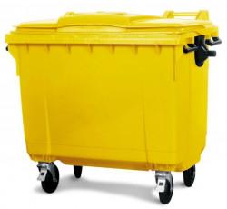 Kontejner za otpatke 1100 litara - Ravan poklopac - Žuti