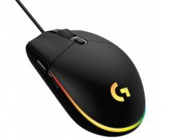 Logitech G102 Lightsync gaming crni miš