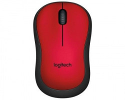 Logitech M220 Silent Mouse Wireless Miš - crveni
