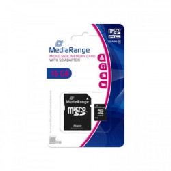 Mediarange 16GB Micro SDHC class 10 + SD adapter MR958 ( MCMR958/Z )
