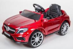 Mercedes GLA 45 AMG Licencirani auto za decu na akumulator sa kožnim sedištem i mekim gumama - Crveni