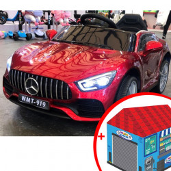 Mercedes WMT-919 auto na akumulator za decu - Metalik crveni + poklon Garaža