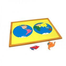 Montesori Puzzle - svet ( ATG0074 )