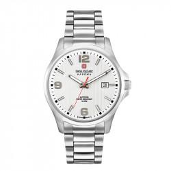 Muški Swiss Military Observer Beli Elegantni ručni sat sa metalnim kaišem