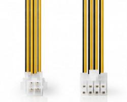 Nedis CPU power EPS 8-pina na P4 zenski, 15cm CCGP74410VA015