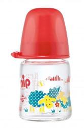 Nip staklena flašica sa širokom otvorom 0m+ 120ml crvena ( A001291 )