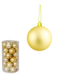 Novogodišnje ukrasne kugle - pakovanje 30 komada - Zlatne ( 170525 )