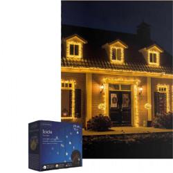 Novogodišnji ukrasi - Spoljašnji novogodišnji LED svetleći niz 7.5m Toplo bela Lumineo Icicle ( 494825 )