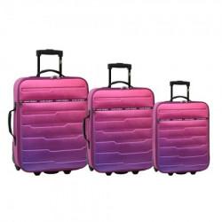 Oslo, kofer, set, 3 komada, PE, roze ( 100093 )