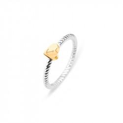 Paul Hewitt Anchor Rope Love Roze Zlatni Prsten Od Hirurškog Čelika 52