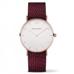 Paul Hewitt Sailor Line Beli Roze Zlatni ručni sat sa crvenim perlon kaišem