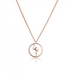 Paul Hewitt Tropicool Roze Zlatna Flamingo Ogrlica Od Hirurškog Čelika