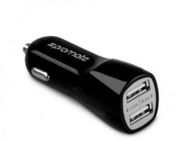 Promate Vivid ultra brzi punjač za kola dual USB crni