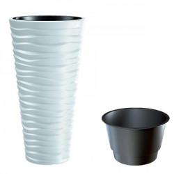Prosperplast saksija sand slim 30x52cm bela ( PR DPSA300-S449 )
