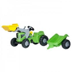 Rolly Toys Traktor Kiddy Futura zeleni s prikolicom i utovarivačem ( 630035 )