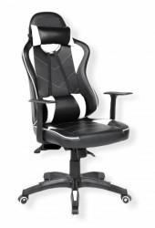 Stolica za gejmere eXracer 7141 Crno-bela
