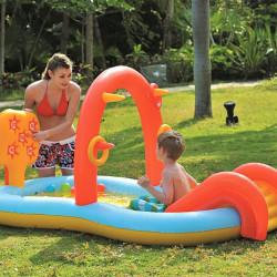 SunClub Vodena Igraonica - bazen na naduvavanje sa toboganom i prskalicom ( 26-319800 )
