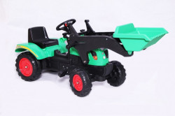 Traktor 03 na pedale sa kašikom - Zeleni