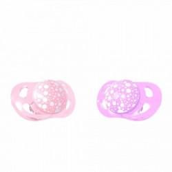 Twistshake 2 x varalice 0-6m pastel pink purple ( TS78286 )
