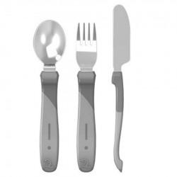 Twistshake pribor za jelo 12 m pastel grey ( TS78214 )