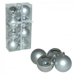 Ukrasne kuglice 7cm 8kom srebrne ( 51-311000 )