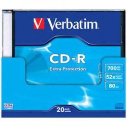 Verbatim CD-R 700MB 52X SLIM CASE 43347 43348