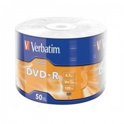 Verbatim DVD-R 4.7GB 16X 50/200 DL cake-50 43814 ( 55165D/Z )