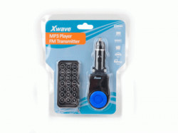 Xwave FM transmiter za kola LCD (MP3/MP4)/SDSlot/USB/Daljinski upravljac ( BT63 blue )