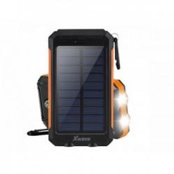 Xwave power bank L80 BK-ORANGE 8000MAH solarni, led lampa, gumeni ( PUNAL80 )