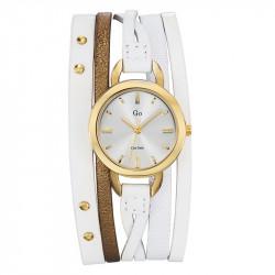Ženski Girl Only Enlace moi Zlatni Elegantni Beli ručni sat sa belim kožnim kaišem