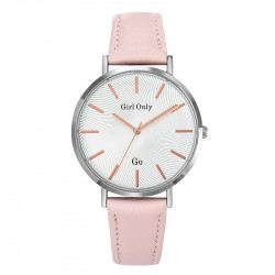 Ženski Girl Only Seduis moi Modni ručni sat sa rozim kožnim kaišem