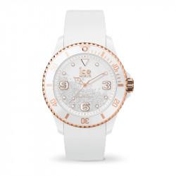 Ženski Ice Watch Ice Crystal Beli Roze Zlatni Elegantno Sportski Ručni Sat Sa Swarovski Kristalima