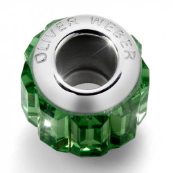 Ženski Oliver Weber Baguette Steel Peridot privezak sa swarovski zelenim kristalom za narukvicu