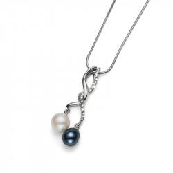 Ženski Oliver Weber Composition Crystal Lančić sa plavim swarovski perla priveskom