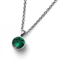 Ženski Oliver Weber Uno Emerald Lančič Sa Zelenim Kristalnim Priveskom