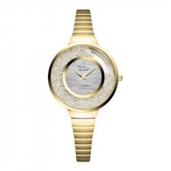 Ženski Pierre Ricaud Quartz Swarovski Srebrni Zlatni Modni Ručni Sat Sa Zlatnim Metalnim Kaišem